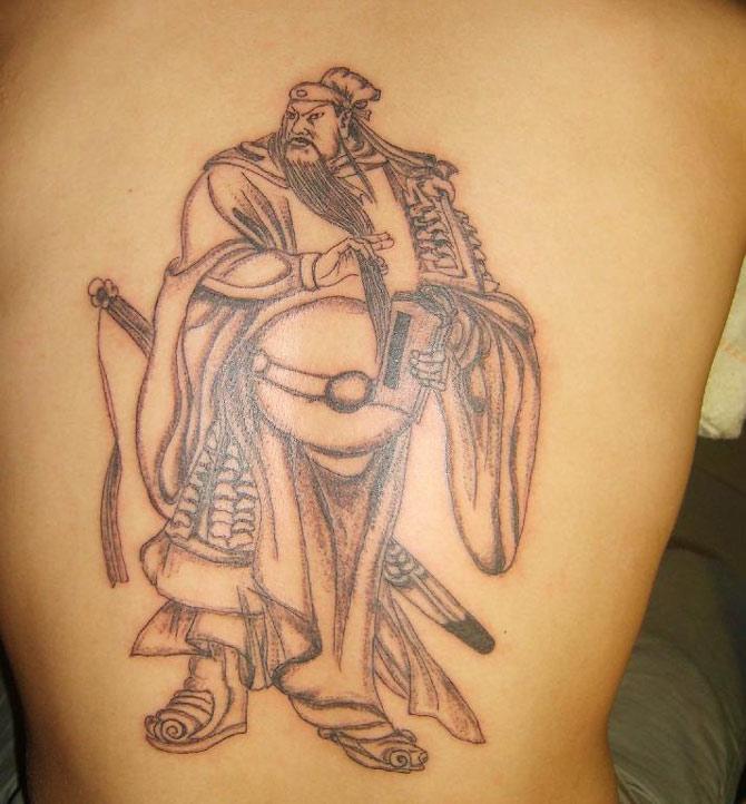 关公- 纹身纹绣 - 新余纹身|纹刺|纹绣|激光洗纹身