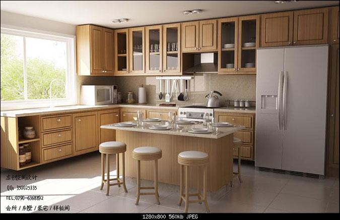 左创空间设计效果图:厨房-新余装饰公司